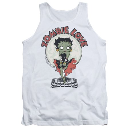 - Betty Boop Cartoon Character Icon Zombie Love Adult Tank Top Shirt