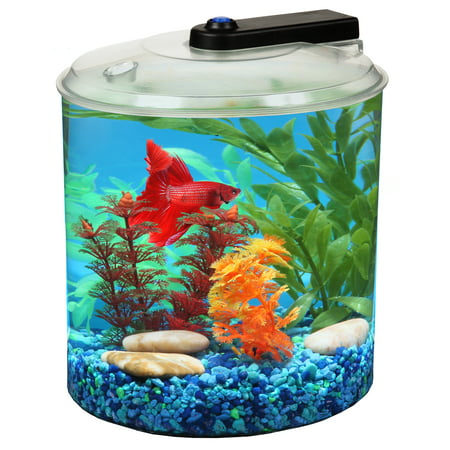 Hawkeye 1.5-Gallon Betta 360 AquaTank with LED Lighting