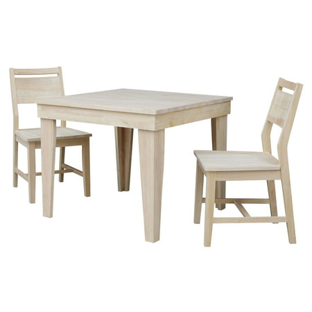 Aspen Solid Wood Dining Table With 2 Aspen Panel Chairs
