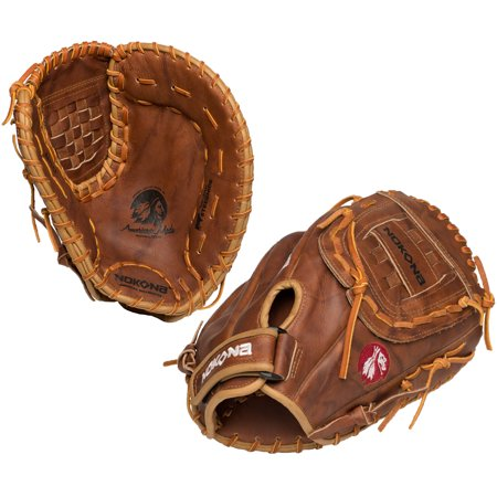 (Nokona Walnut Series 14 Inch W-N80 Fastpitch Softball First Base Mitt)