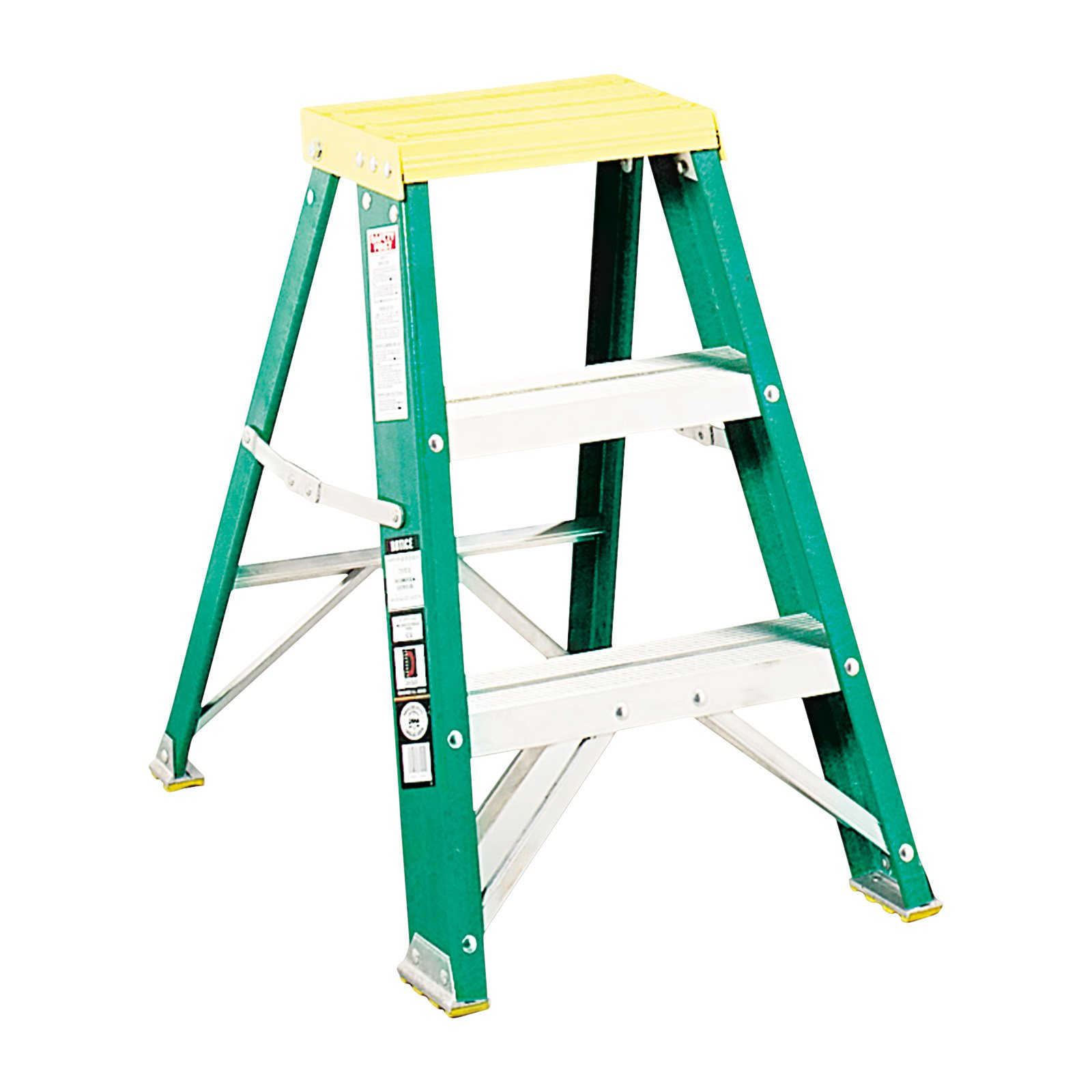 Louisville Folding Fiberglass Locking 2-Step Stool, #624