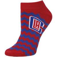 LA Clippers For Bare Feet Women's Chevron Stripe Ankle Socks - Lad 9-11