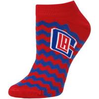 LA Clippers For Bare Feet Women's Chevron Stripe Ankle Socks