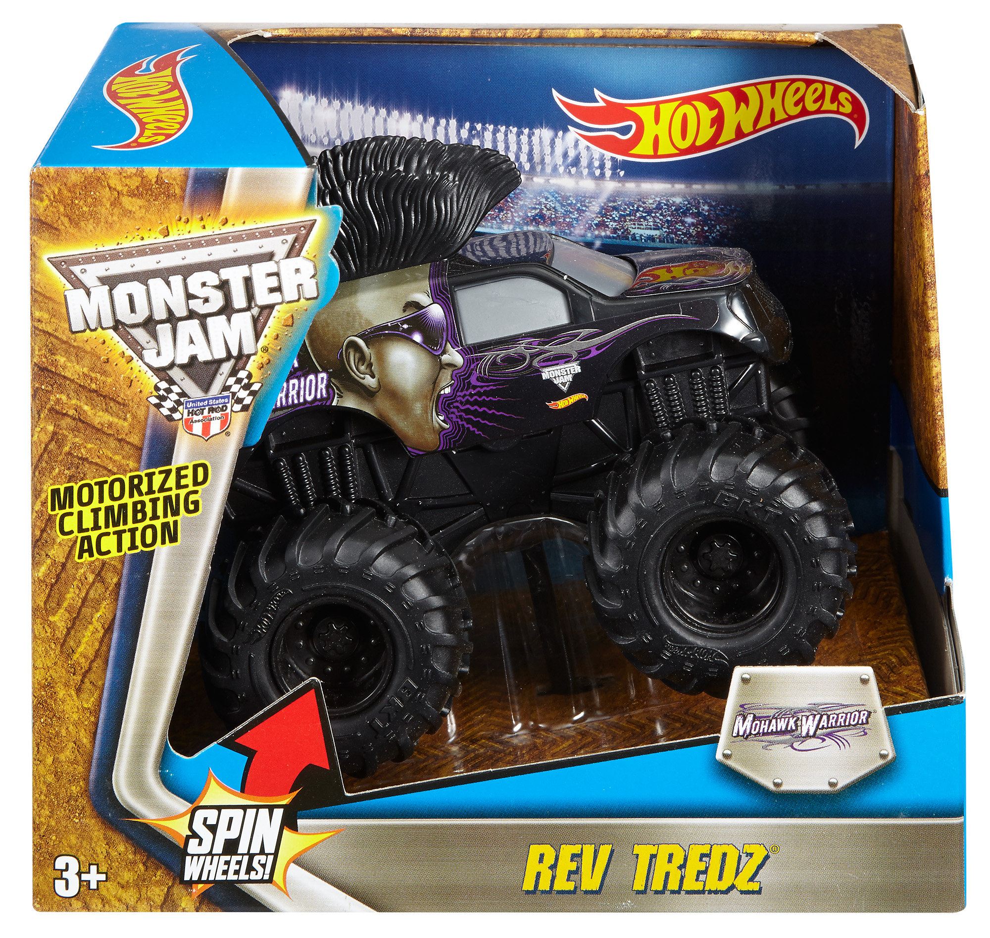 Hot Wheels Monster Jam Rev Tredz Mohawk Warrior Vehicle