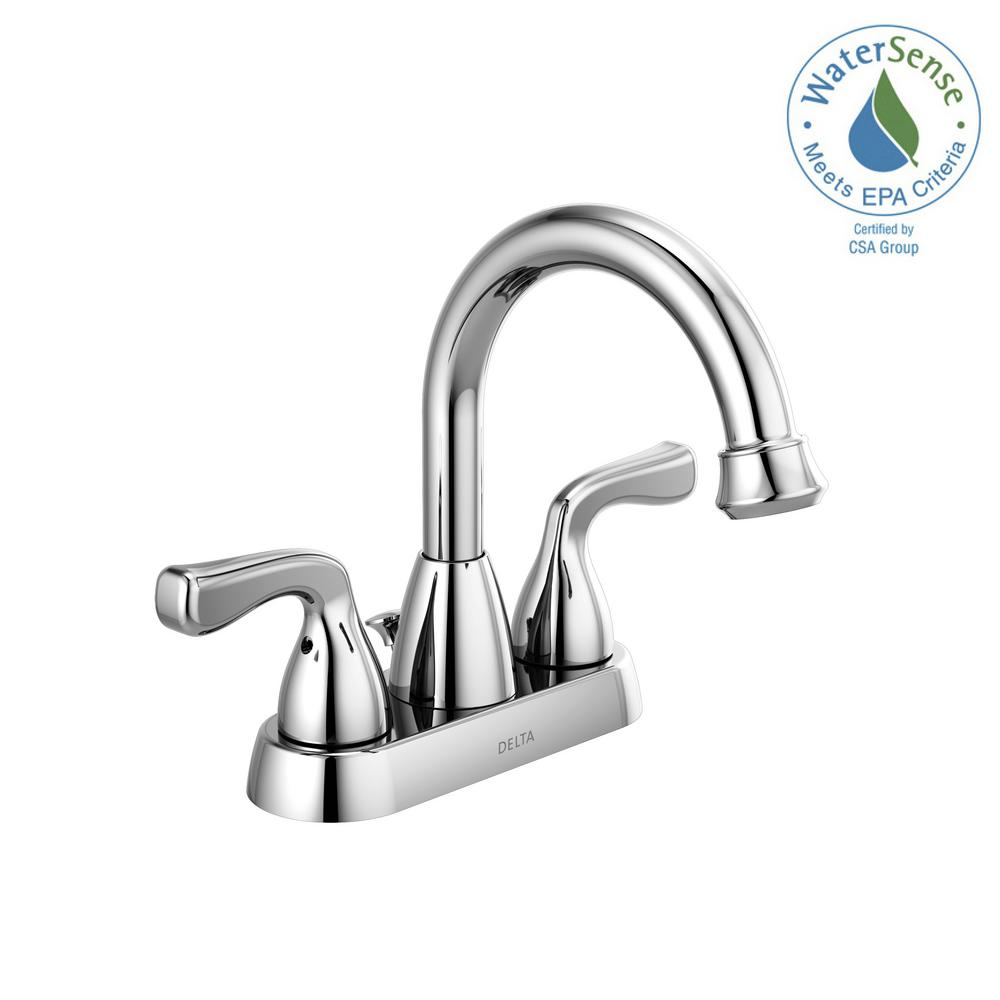 Foundations 4 in. Centerset 2-Handle Faucet in Chrome