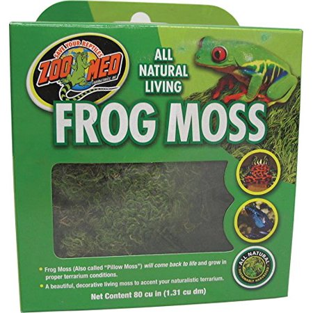 - Frog Moss, 80 Cubic-InchesA beautiful, decorative living moss to accent your naturalistic terrarium By Zoo Med