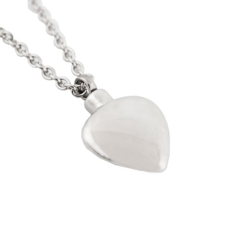 - Stainless Steel Memorial Keepsake Necklace For Loss Of Loved One - Extra Small 1 Pounds -  Silver Heart