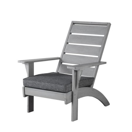Pleasing Linon Seacrest Grey Acacia Wood Outdoor Chair Machost Co Dining Chair Design Ideas Machostcouk