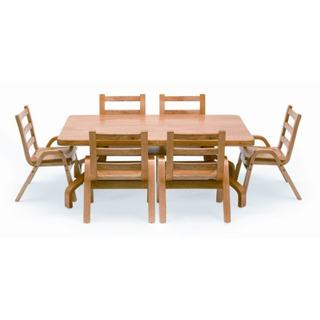 Angeles NaturalWood 20 Rectangle Preschool Table And