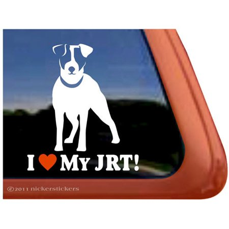 I Love My JRT | High Quality Vinyl Jack Russell Terrier Dog Window Decal - Rydell High