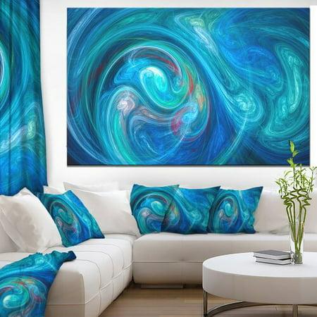 Design Art 'Dark Blue Fractal Abstract Texture' Graphic Art on Canvas