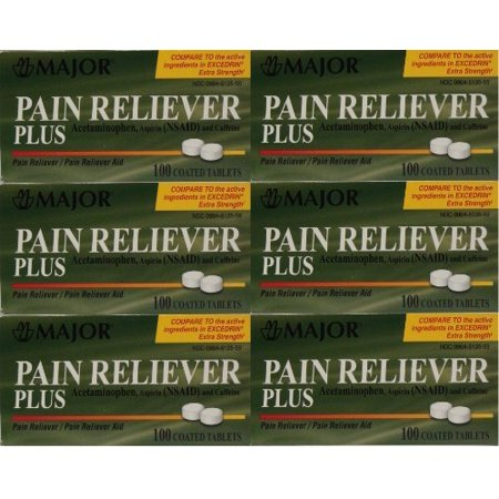 Aspirin Active Ingredients (Headache Pain Reliever by Major ( Contains an active ingredient of Excedrin) )