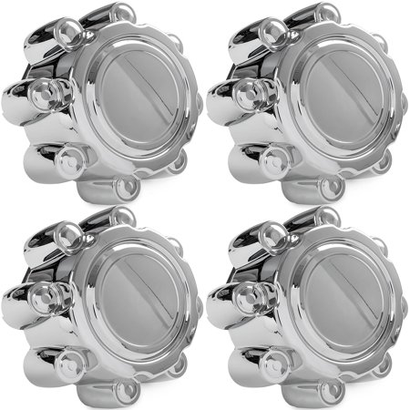 4x Chrome Center Caps Wheel Lug Nut Hub Cap Covers for 1999-2005 Ford F250
