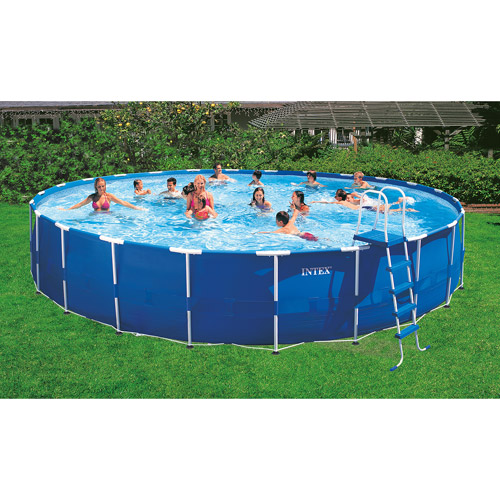 Intex 24 X 52 Metal Frame Swimming Pool Walmart Com Walmart Com