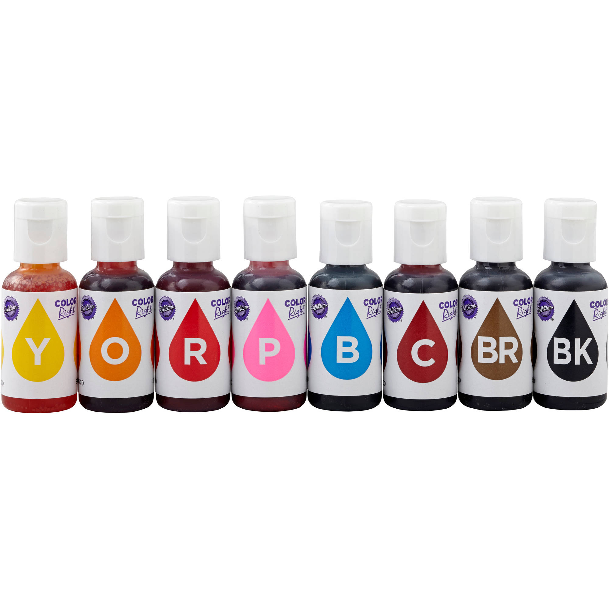 Wilton Color Right Performance Food Coloring Set, 8-piece ...