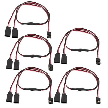 5pcs 420mm 30 cores mf jr rc quadcopter y servo extension lead wire cablestwalmart