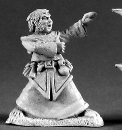 Del Briarberry Halfling Wizard Miniature 25mm Heroic Scale Dark Heaven Legends Reaper Miniatures by Reaper Miniatures