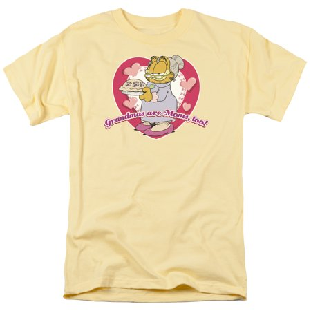 Garfield Don't Forget Grandma Newspaper Comic Short Sleeve Adult T-Shirt Tee](Halloween Special Garfield)