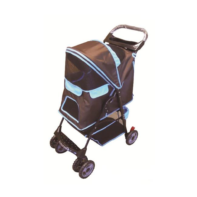 AmorosO 6746 Pet Strollers - Turquoise with Brown
