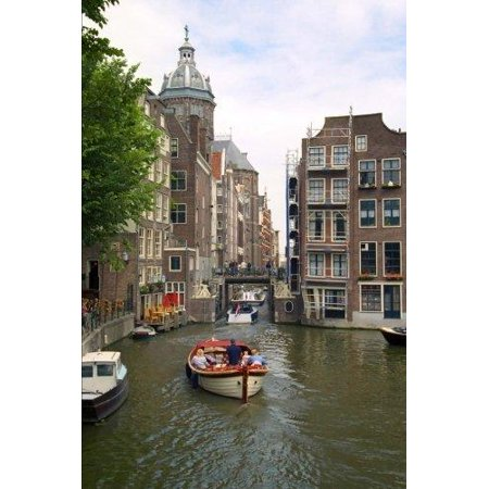 Pleasure Boats on Canal in Amsterdam Holland Netherlands Journal: 150 Page Lined - Dutch Candle