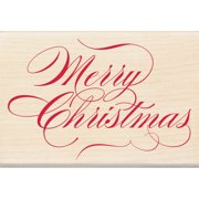 Inkadinkado Christmas Mounted Rubber Stamp, Merry Christmas