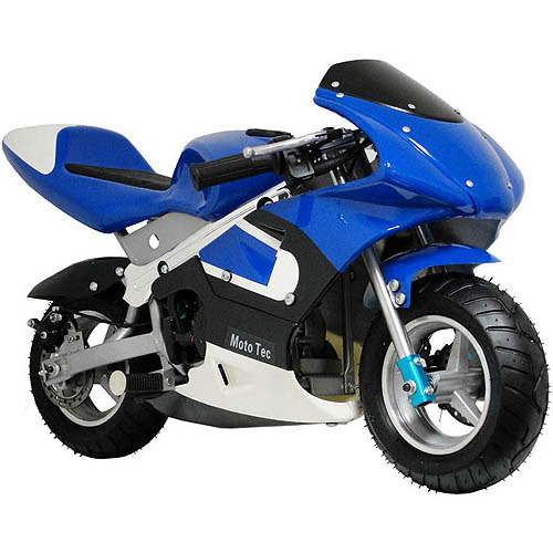 MotoTec Gas Pocket Bike, Blue
