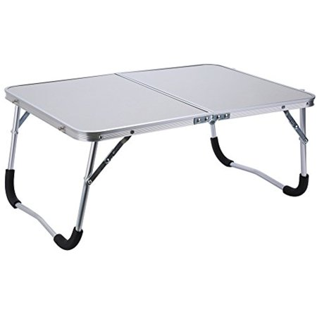 Portable Laptop Desk,Aluminum Outdoor Travel Picnic Camping Folding Table Computer Desk Stand PC Notebook Bed Sofa Tray,White ()