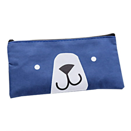 Lovely Bear Canvas Pencil Case Bag Cute Stationery for Girl School Supplies Pencil Box Cosmetics Pouch](Girly Stationery)