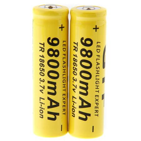 GTF 1pcs 3 7V 18650 Led Flashlight 9800mAh Li-ion