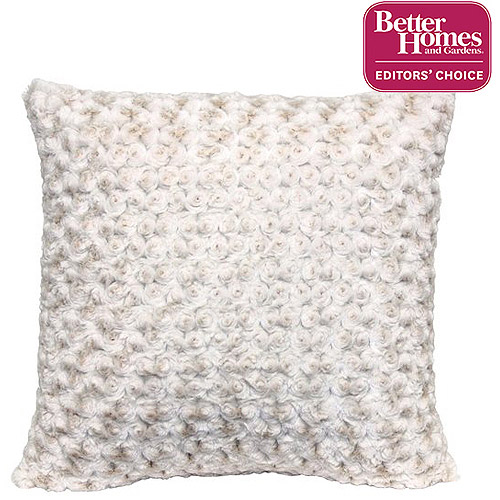 "Better Homes and Gardens Rosette 18"" Knife Edge Ivory Decorative Pillow"