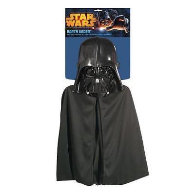 Kid's Darth Vader Cape & Mask Set By Fun - Darth Vader Mask And Cape