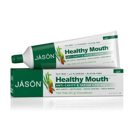 Jason healthy mouth toothpaste, tea tree oil and cinnamon, 6 oz