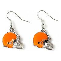 NFL Earrings Dangle Charm Team Logo PICK YOUR TEAM w/Gift Box