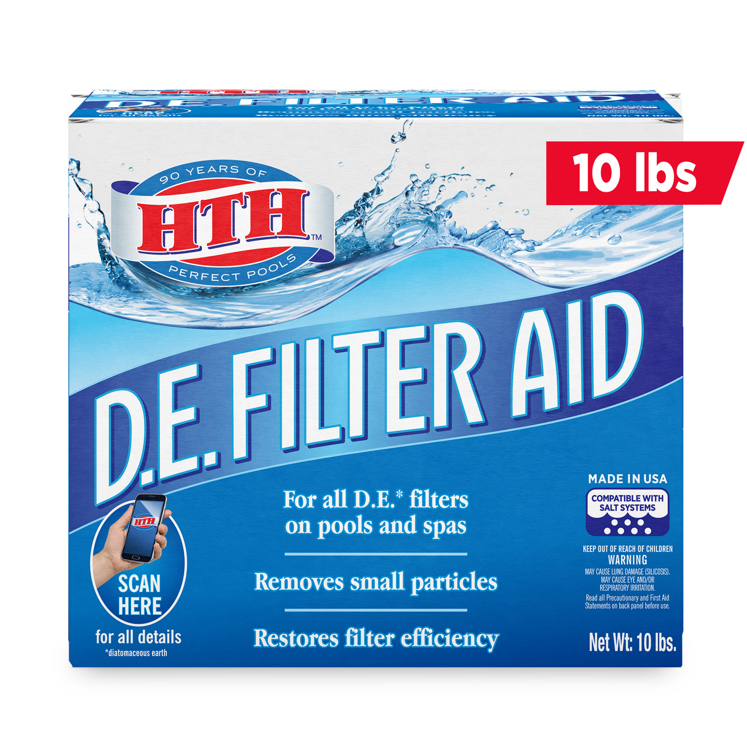 Hth Diatomaceous Earth De Filter Aid For Cleaner Pools