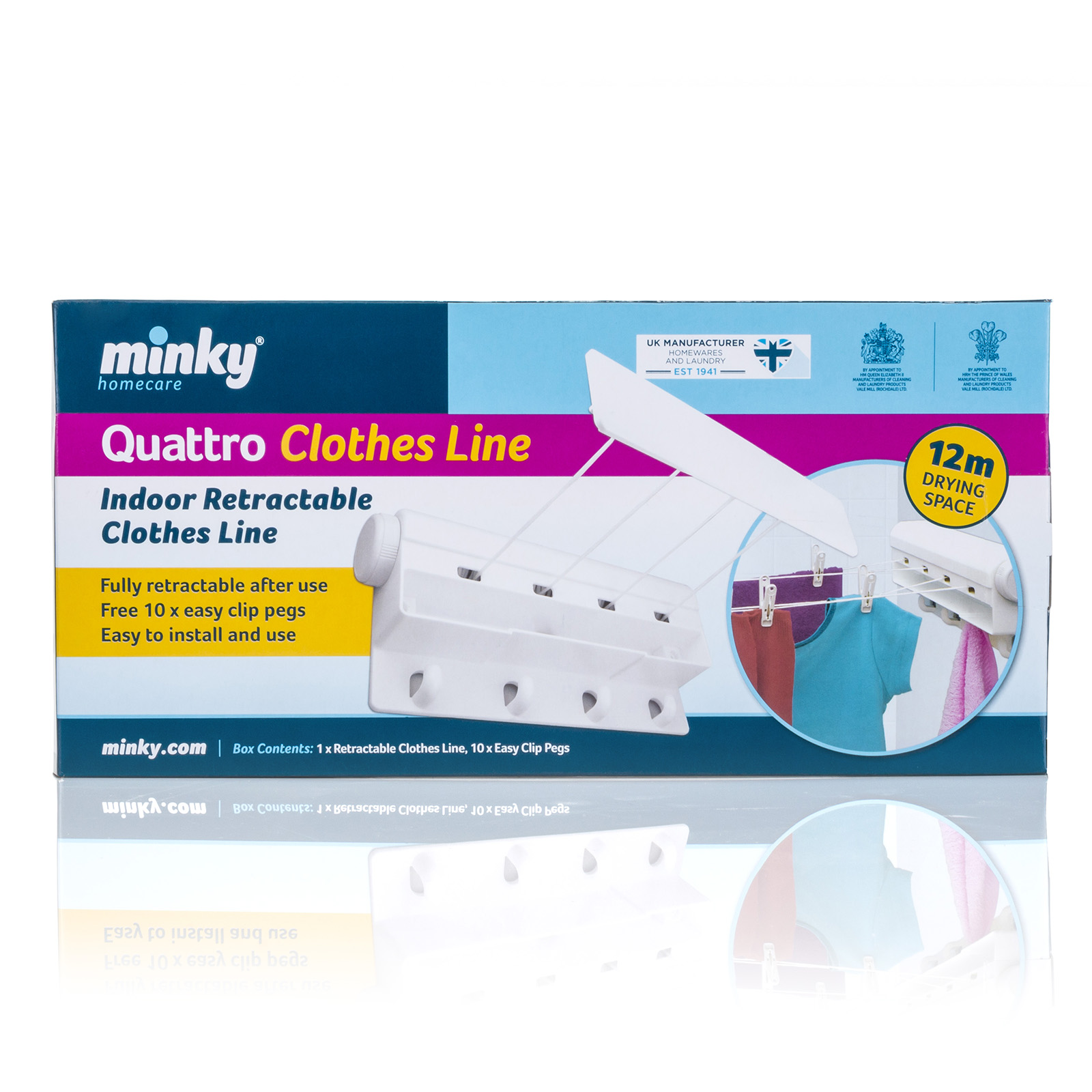 Minky 4 Line Retractable Clothesline