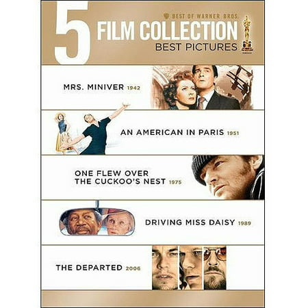 Image of 5 Film Collection: Best Pictures - Mrs. Miniver / An American In Paris / One Flew Over The Cuckoo's Nest / Driving Miss Daisy / The Departed (DVD + Digital With UltraViolet)
