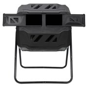 ZENSTYLE Durable Composting Tumbler Dual Rotating Outdoor Garden Yard Compost Bin High Quality 43 Gallon - Black