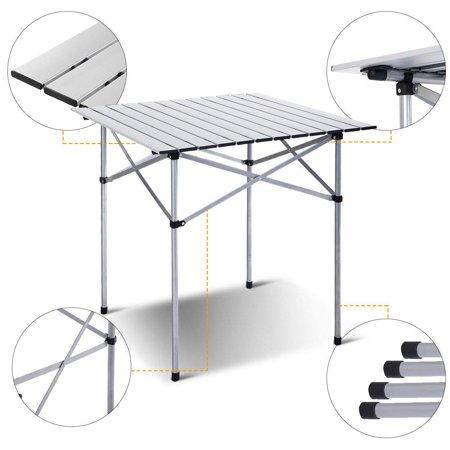 Moustache Camping Table, Portable Square Aluminum Folding Table , 70cmx70cm - image 6 of 6