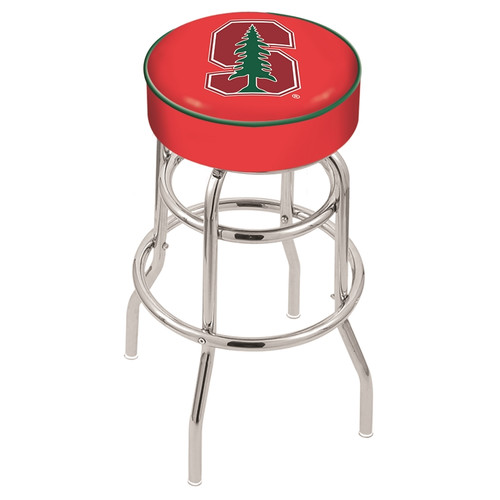 NCAA Swivel Stool with Double Ring Base by Holland Bar Stool, 30'' - Stanford