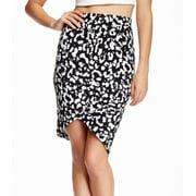 Pleione NEW Black Women's Size Small S Printed Asymmetrical Skirt
