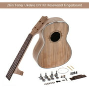 26in Tenor Ukelele Ukulele Hawaii Guitar DIY Kit Rosewood Fingerboard with Pegs String Nut