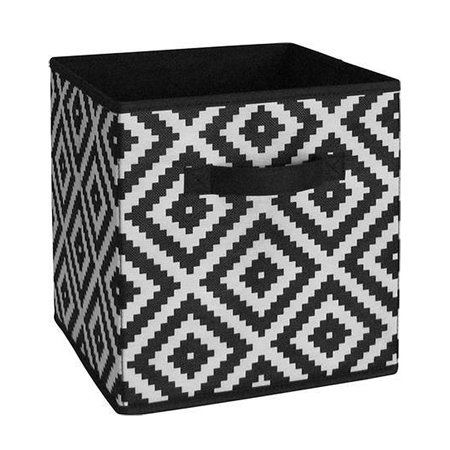 White Diamond Fabric Storage Bin Organizer for System Build Units