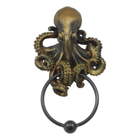 Ebros Nautical Deep Ocean Creature Octopus Door Knocker 8.5