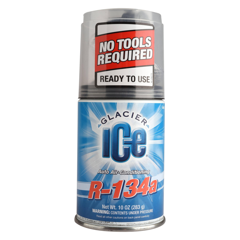 Glacier Ice Auto Air Conditioning R134a Refrigerant, 10 oz