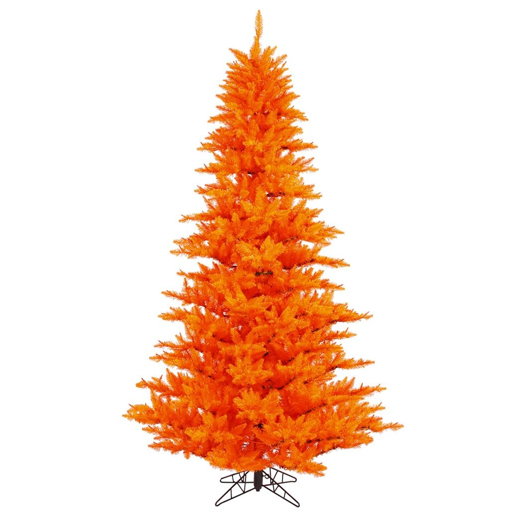 "Vickerman 433669 - 9' x 64"" Orange Fir Tree Christmas Tree (K162380)"