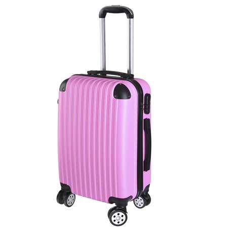 20 Luggage Rolling ABS Hard Shell Travel Case 360 Degree Wheel Lockable -