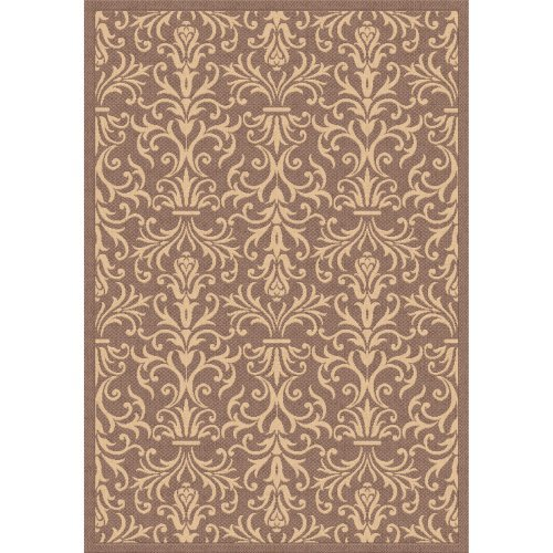 Dynamic Rugs Piazza French Indoor/Outdoor Area Rug - Brown