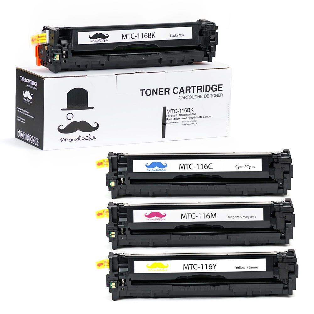 LIVEDITOR 4PK Toner Cartridge for Canon 116 (BK/C/M/Y) ImageClass MF8050Cn MF8080Cw - image 1 of 1