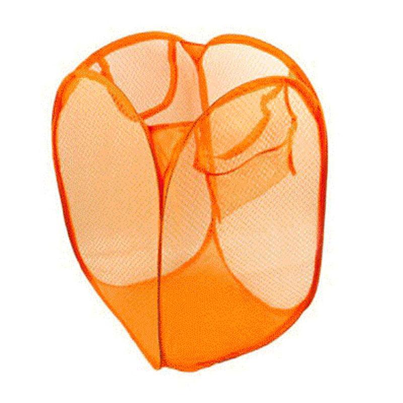 Foldable Pop Up Washing Laundry Basket Bag Hamper Mesh Storage Pueple