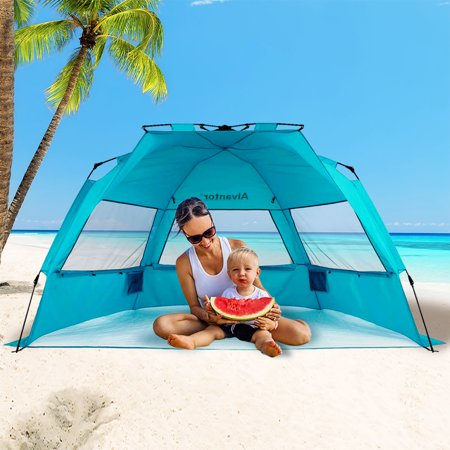 Beach Tent Sun Shade Automatic Hiking Canopy Upf 50 Pop